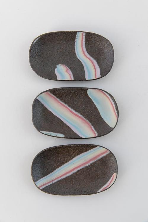 Image of Rainbow on Dark Sky - Small Oval Jewelry Dish