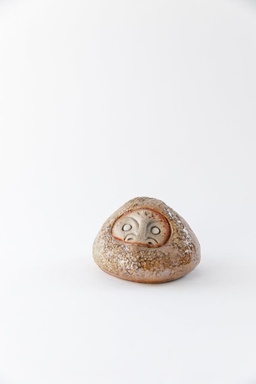 Image of Daruma Wishing Doll - Large Crater Shino