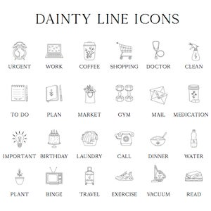 Image of Dainty Transparent Line Icons