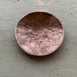 Image of extra small etched copper catch all I