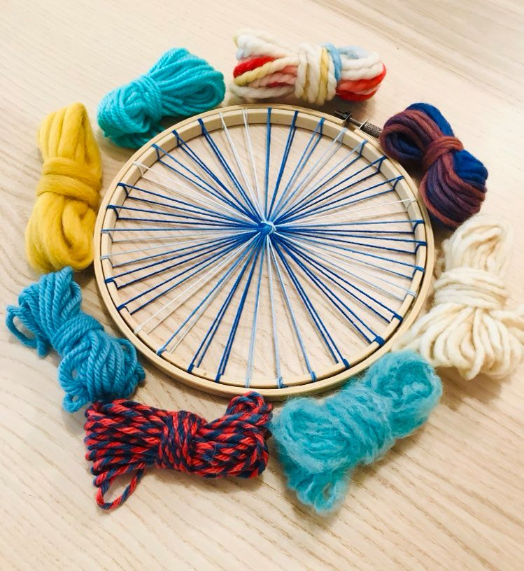 Image of Tabby Weaving Kit- Circular Loom, Fibre Pack, Needle and Instructions