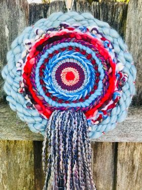 Dive into the Blue Circular Weaving