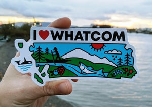 Image of I Heart Whatcom Sticker