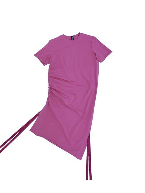 Image of Shift Dress - Organic Jersey - Raspberry