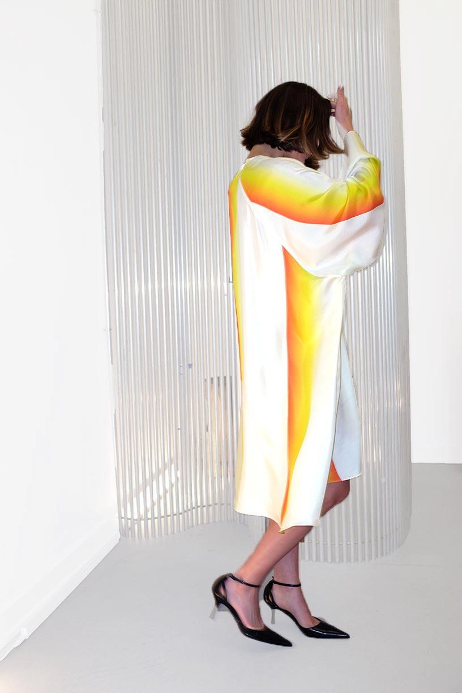Image of Dress 1 - Silk twill - Sunray