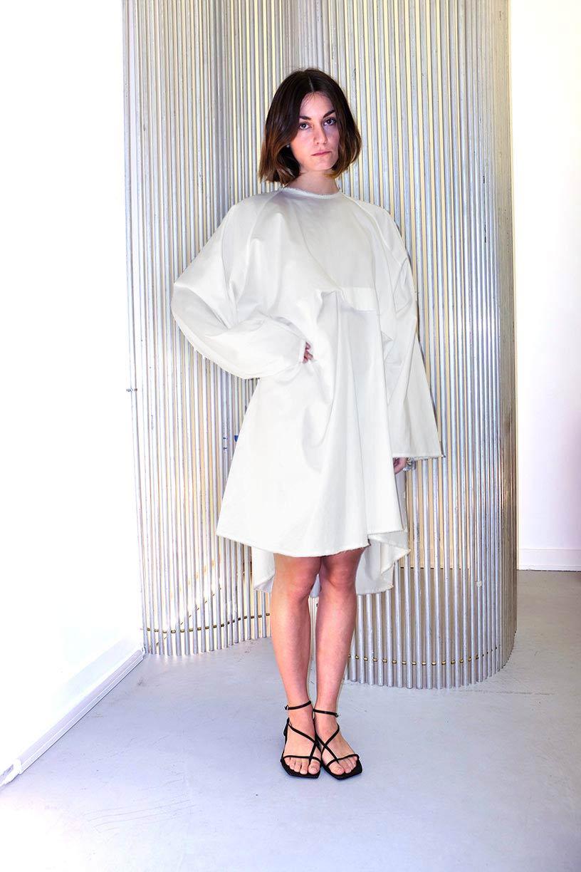 Image of Dress 1 - Organic cotton percale - White