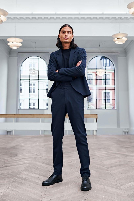 Image of Suit 1 - FULL SET UNISEX - Cotton twill - Dark blue