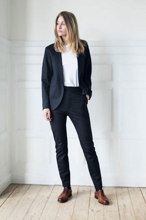 Image of Suit 1 - JACKET - Cotton twill - Black