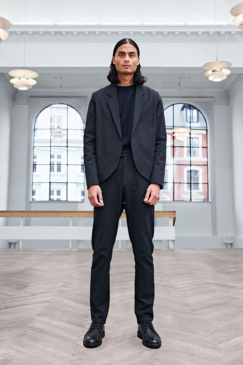Image of Suit 1 - JACKET - Cotton twill - Black