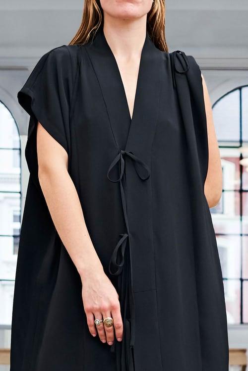 Image of Kimono Dress - Silk - Black