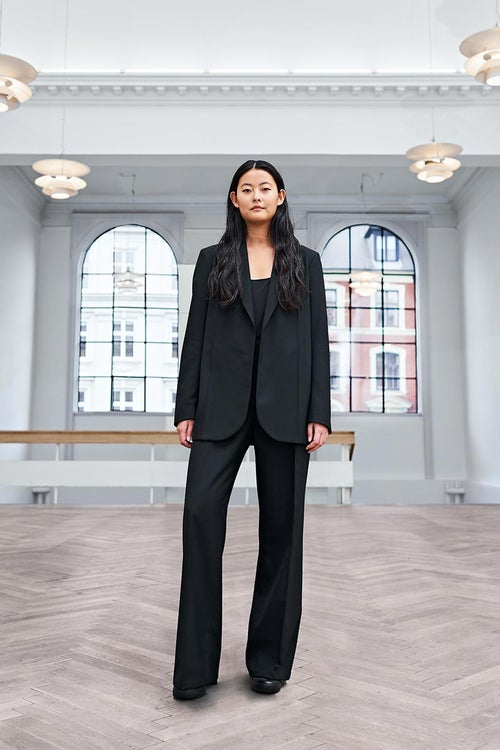 Image of Suit 2 Trousers - Wool - Black