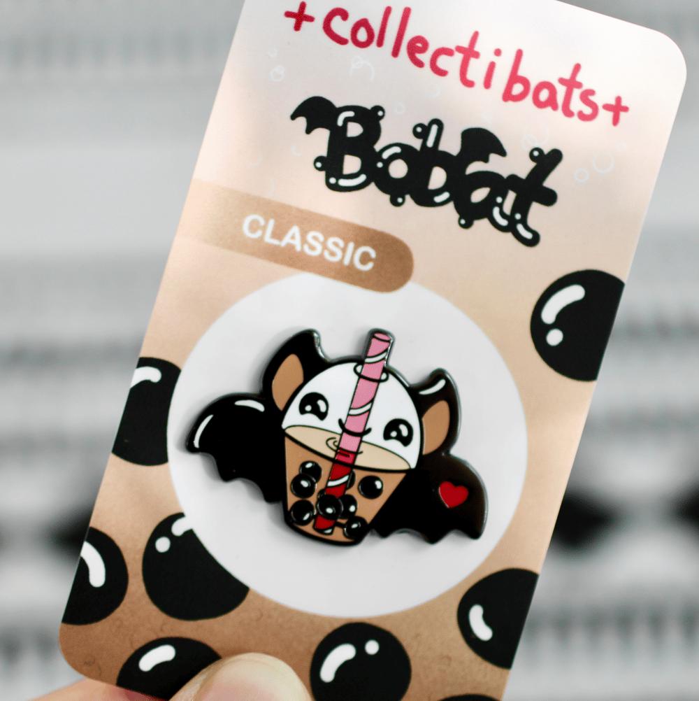 Bobat - Batty for Boba Pin!
