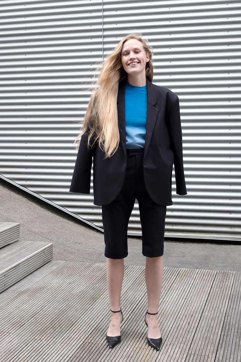 Image of Suit 1 - Shorts - Cotton twill - Black
