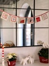 Chritmas Stamps Bunting - Red