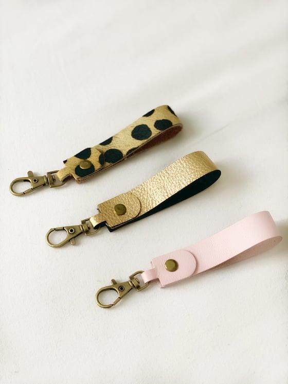 Image of Porte clefs en cuir
