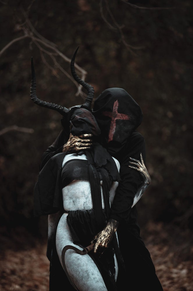 Image of Sweet Reaper - hood mask with cross