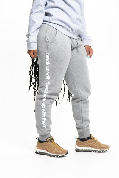 Image of Gray Break Up With Them Joggers
