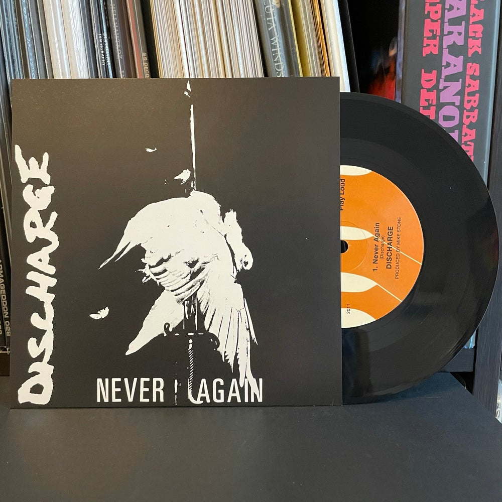 """DISCHARGE """"Never Again"""" 7"""" EP"""