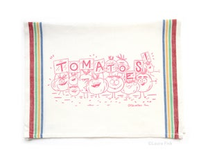 Image of Tomatoes Funny Food Tea Towel