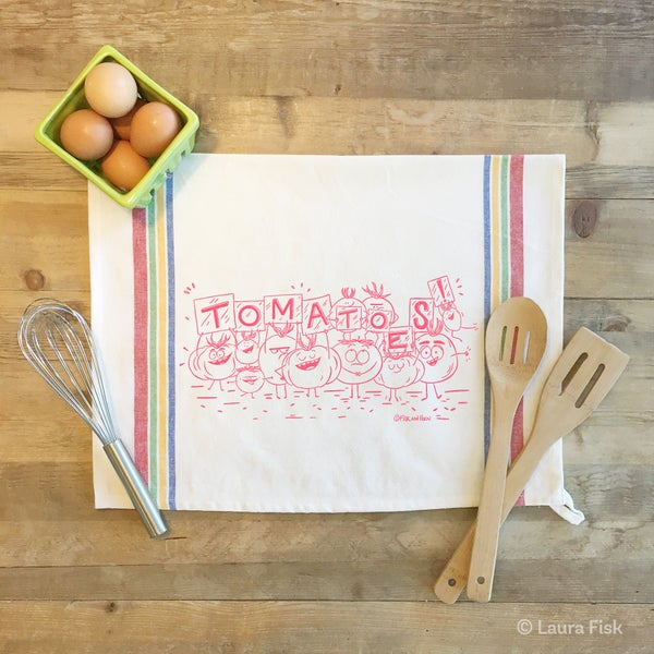 Image of Tomatoes Funny Food Tea Towel