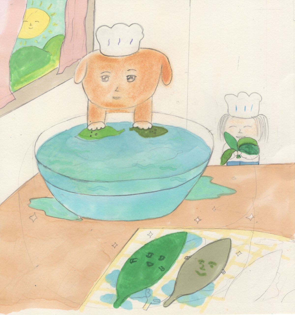 Image of Chef Doggy Making a Pesto