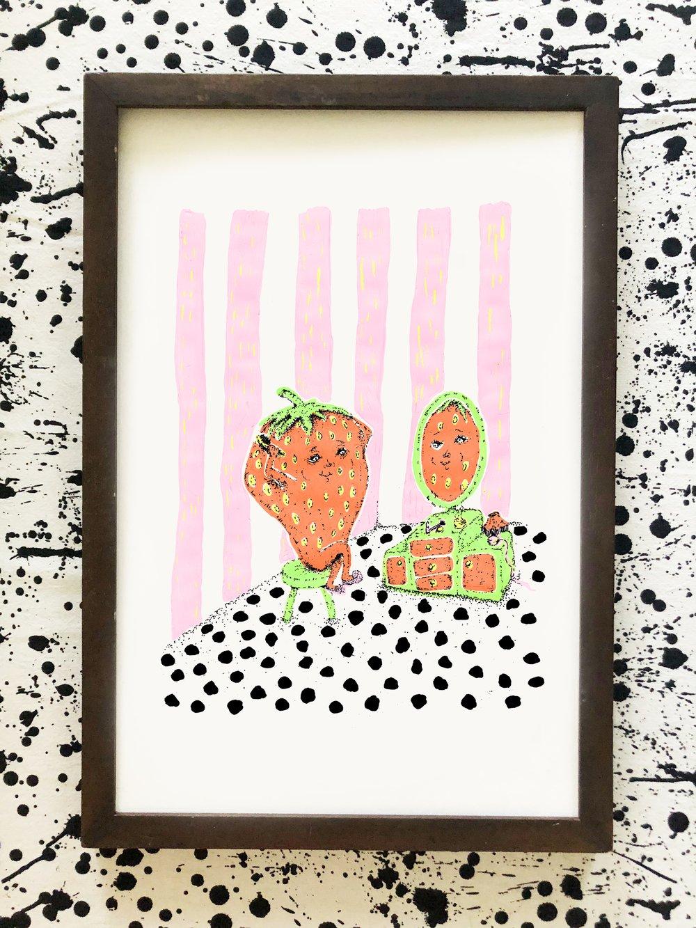 Image of Strawbaberry Print