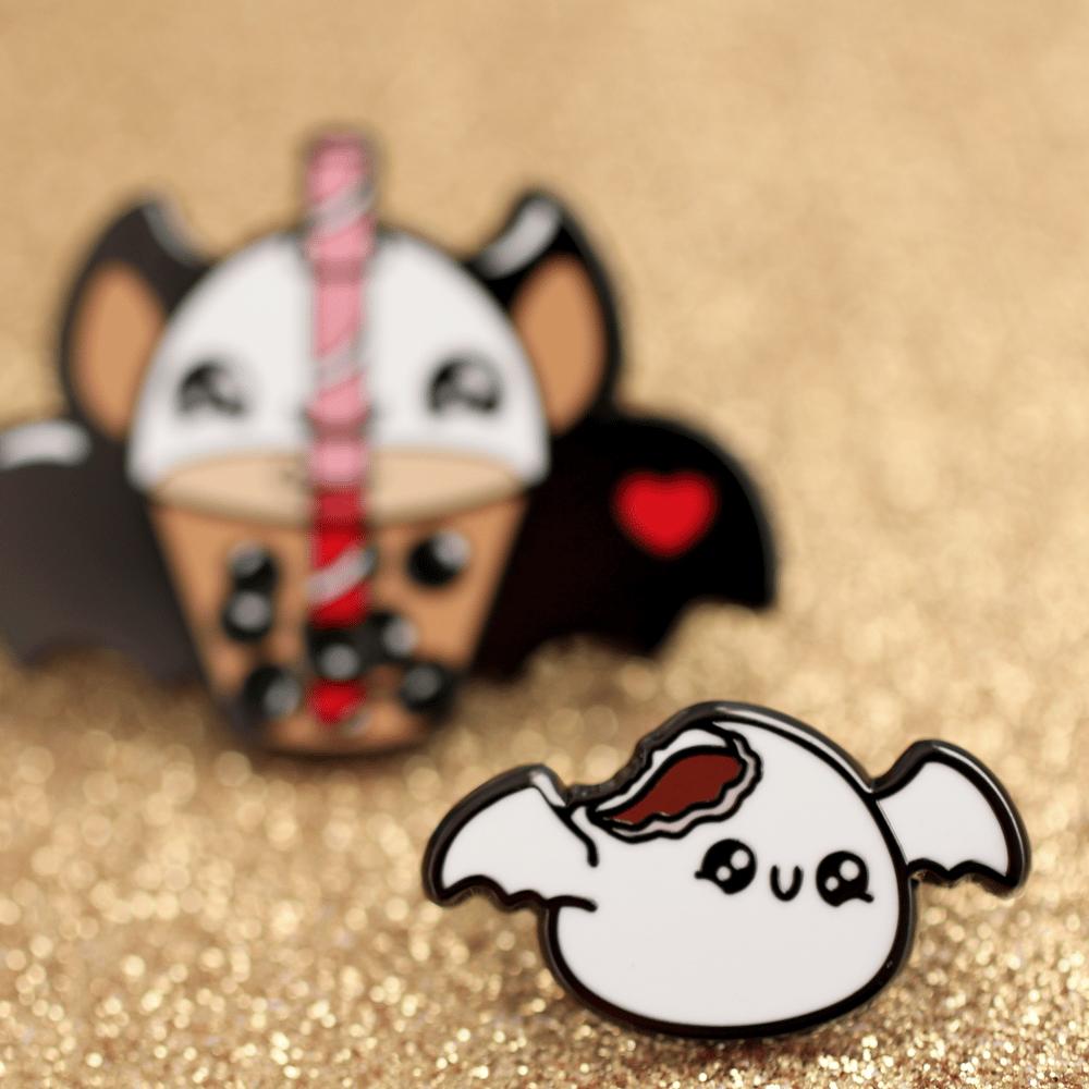 Redbean Mochi Pin - Batty for Boba