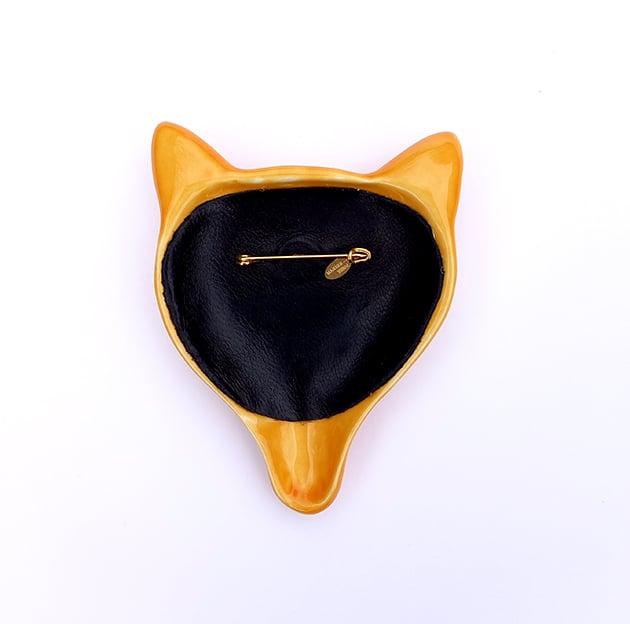 Image of FOX BROOCH MELON