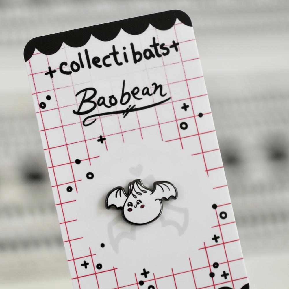 Baobean Dumpling Pin - Batty for Boba