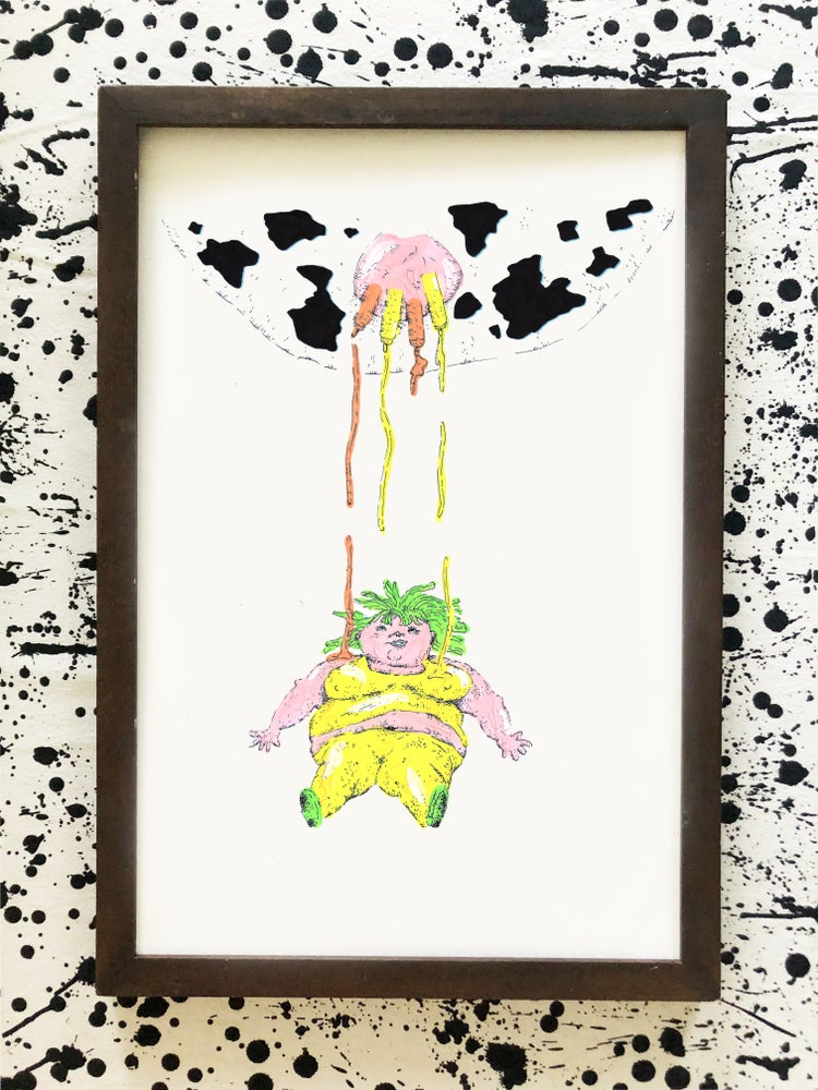 Image of Cow Lady Print