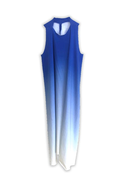 Image of Dress 2 - Organic Jersey - Blue Gradient