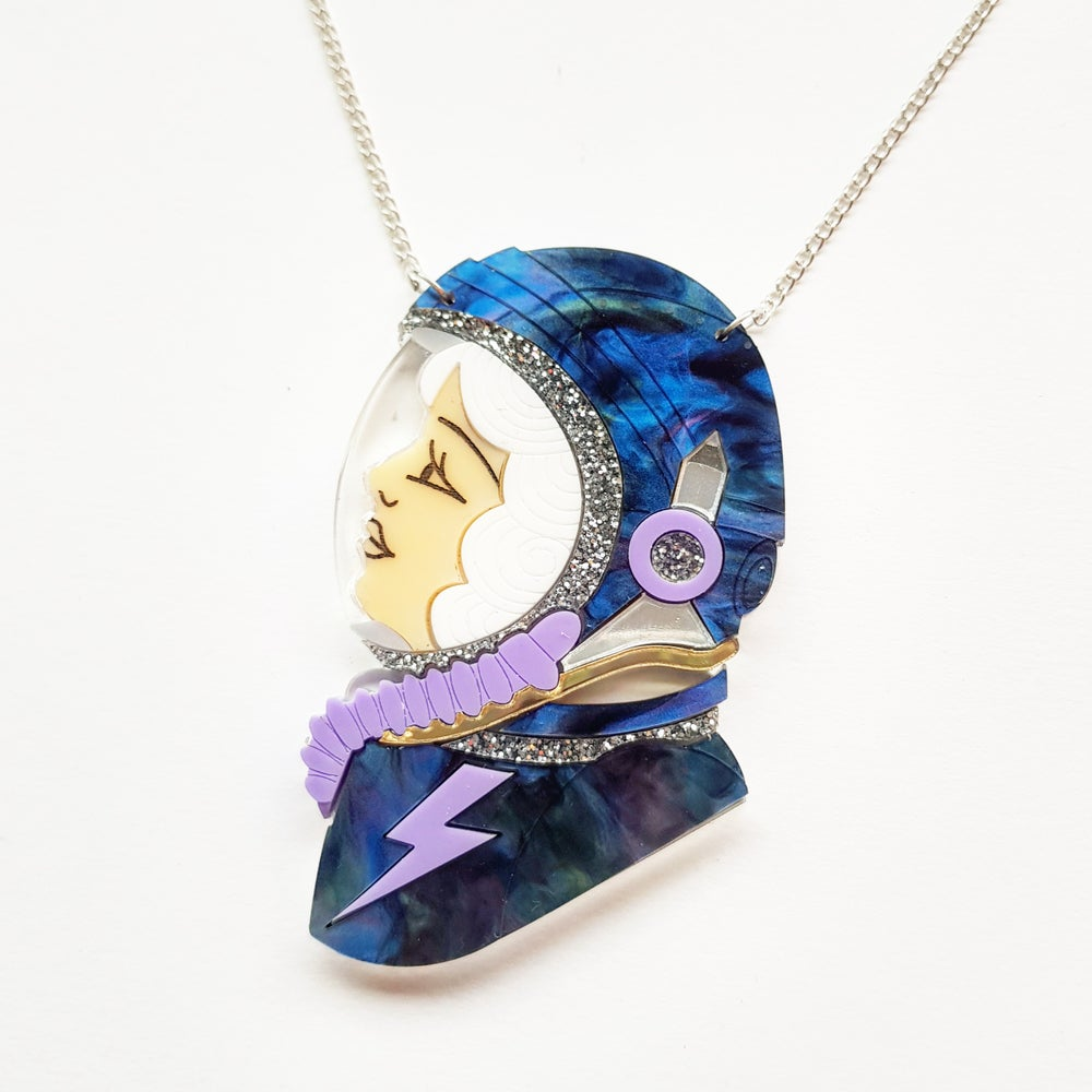 Image of Spacewoman Necklace - White
