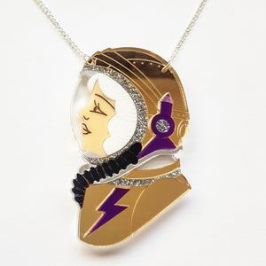 Image of Spacewoman Necklace - White - PRE ORDER