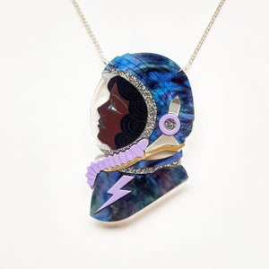 Image of Spacewoman Necklace - Woman of Colour