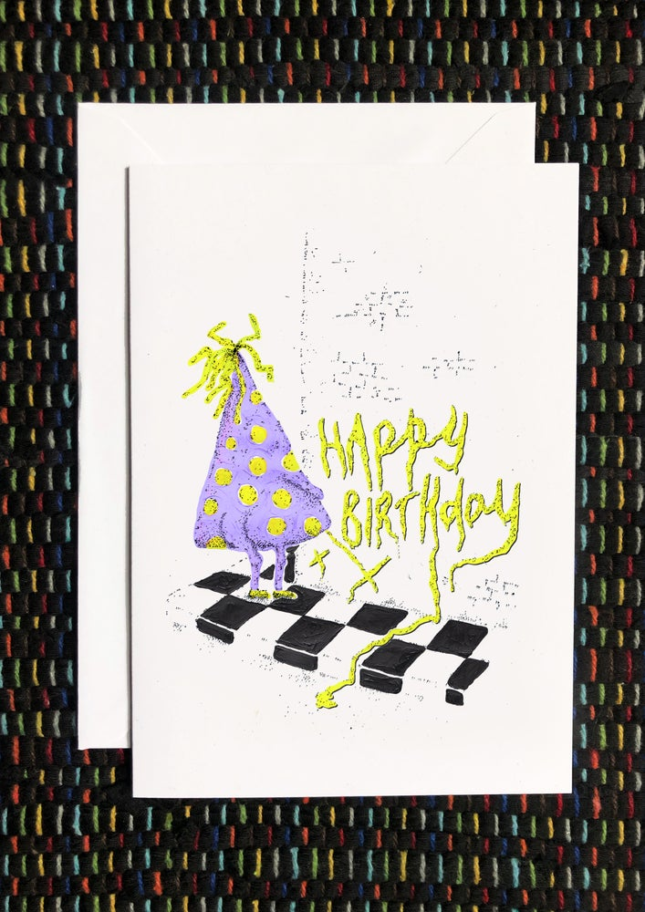 Image of Party Hat Happy Birthday Card