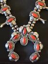 Antique Squash Blossom Necklace & matching Bracelet