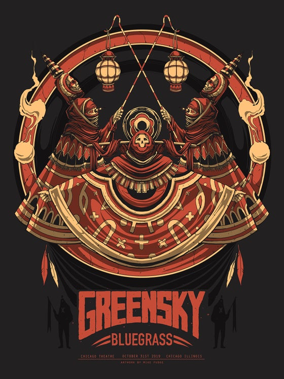 Image of Greensky Bluegrass Halloween Poster
