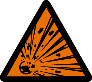 Image of Explosive Airbag Warning