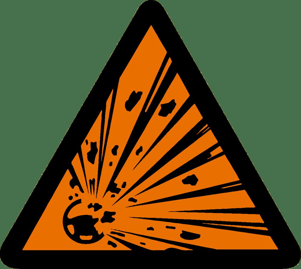 Image of Explosive Airbag Warning