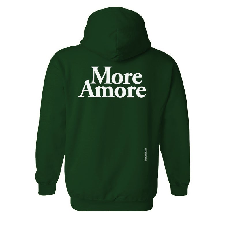 Image of More Amore - Hoodie - Bottle Green