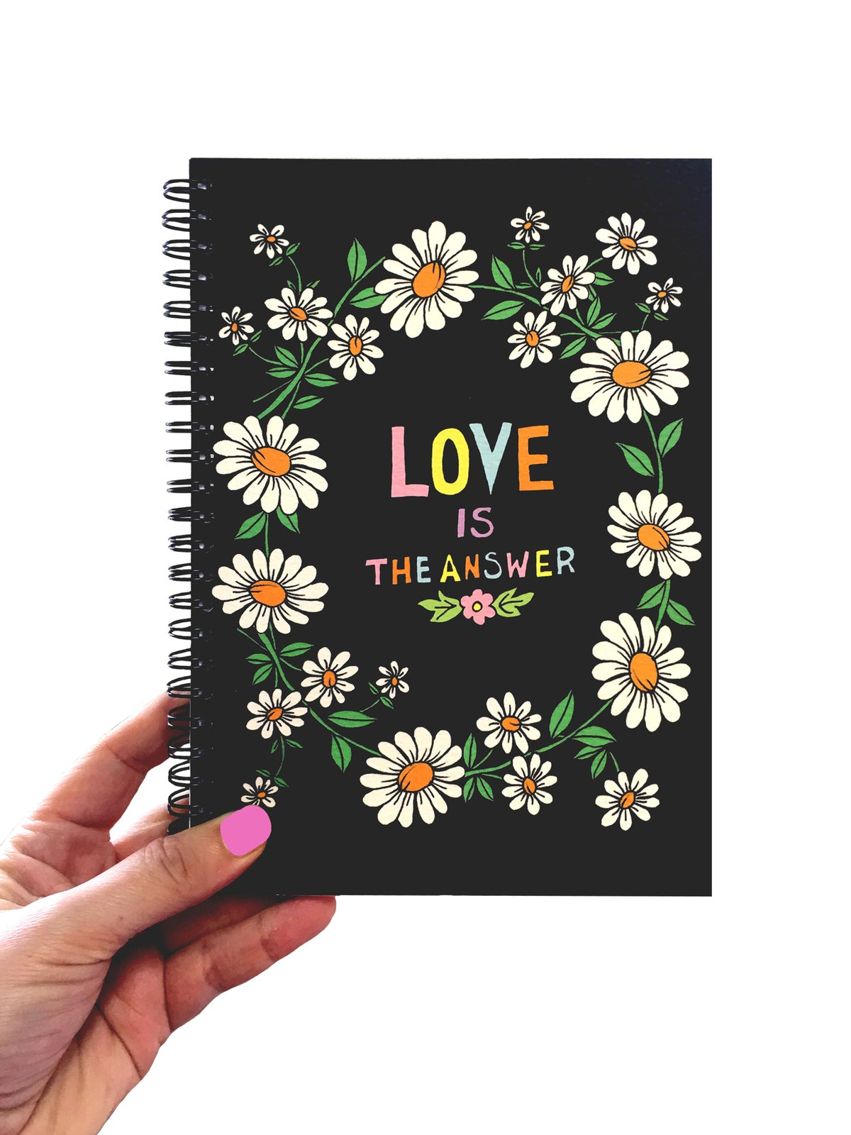 Love is The Answer Spiral Bound Notebook