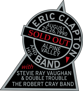 Image of Stevie Ray Vaughan Concert Patch Sticker