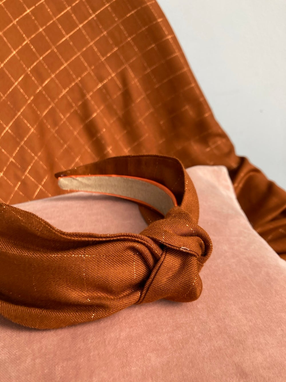 Image of Luxury Knot Band- Caramel & copper check