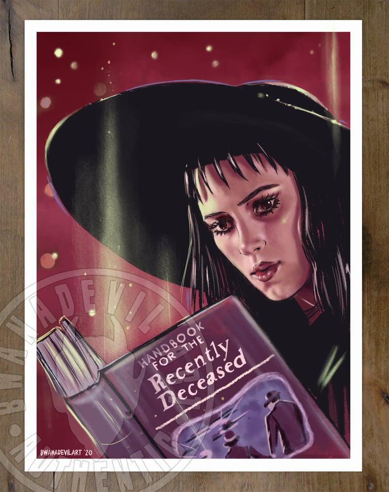 Image of Lydia Deetz ( Beetlejuice) Art Print 9 x 12 in.