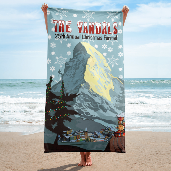 Image of  Beach Towel from 25th Annual Vandals Christmas Formal