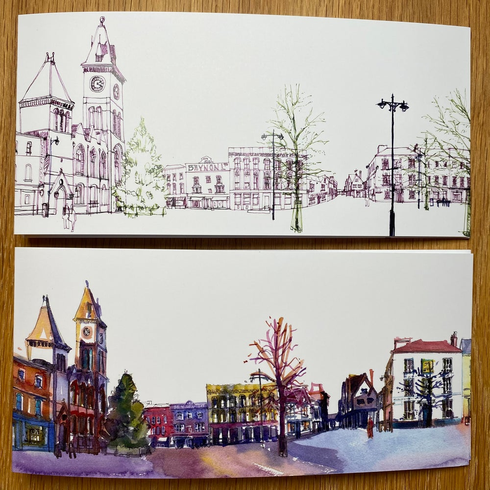 Image of Newbury Market Square - Long cards