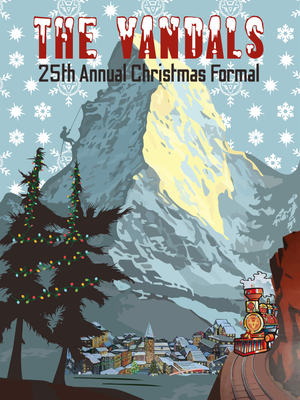 "Image of Poster from Vandals 25th Annual Christmas Formal 18"" x 24"""