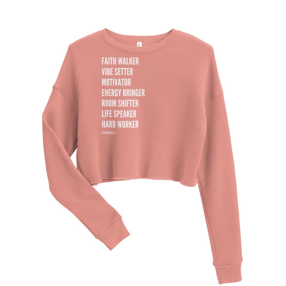 "Image of ""She Is"" Crop Sweatshirt"
