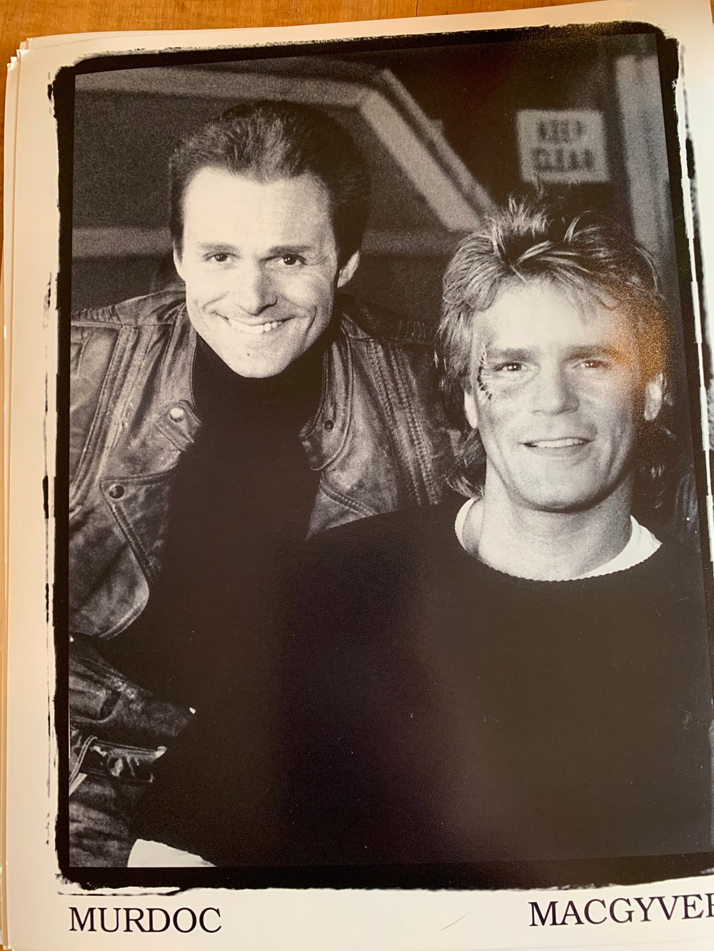 Image of Murdoc and Macgyver Signed Photo