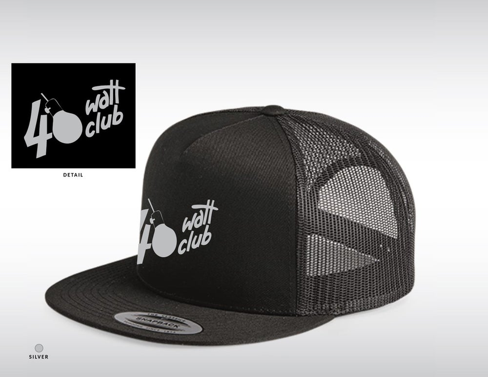 40 Watt Snap-Back - Silver Embroidered